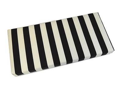 Cushion Black Stripe (Outdoor Black White Stripe Foam Bench / Swing / Glider Cushion, Choose Size )