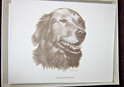 Golden Retriever with Note Cards with 10 Note Card &10 Envelopes Golden Retriever Note Cards