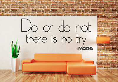Do or Do not, Yoda, Star Wars inspired quote wall art vinyl decal sticker