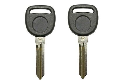 2 New Replacement Transponder Ignition Key Uncut Blade Blank Car Key Chipped