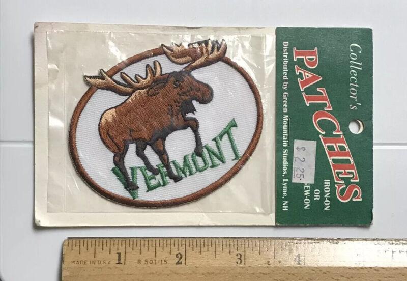 NIP Vermont Moose Green Mountain Studios Iron-on VT Embroidered Souvenir Patch