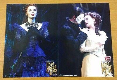 Love Never Dies/Phantom of the Opera-Souvenir Programme Highlights+PostCards NEW