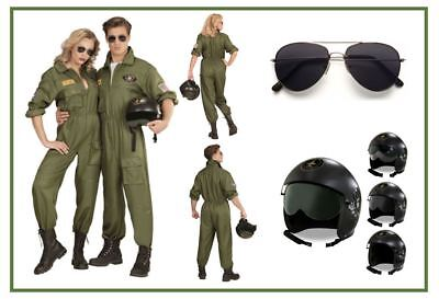 PILOT PILOTIN Deluxe Kampfjet Partnerkostüm Mottoparty Pilot Jet Karneval, K