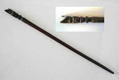 Zauberstab klein geschnitzt mit Eule Holz 24cm