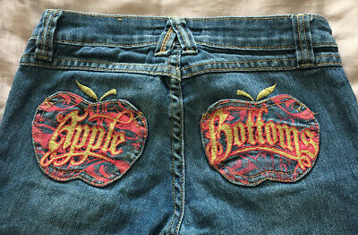 Girls Designer APPLE BOTTOMS Cropped Jeans Age 8