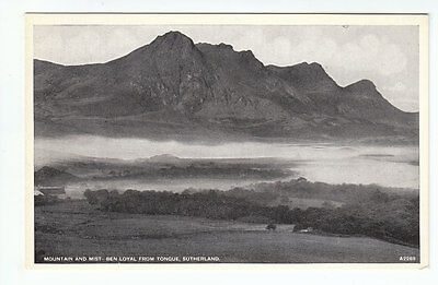 Mountain And Mist Ben Loyal From Tongue Sutherland JB White A2269 Old Postcard