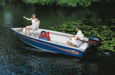 6.25oz SEMI-CUSTOM BOAT COVER FOR PRINCECRAFT FISHERMAN O/B - Fisherman Custom Boat Cover
