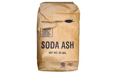 Sodium Carbonate Dense Soda Ash Na2co3 Nsf 99.6 White Crystals 50 Lb Bag