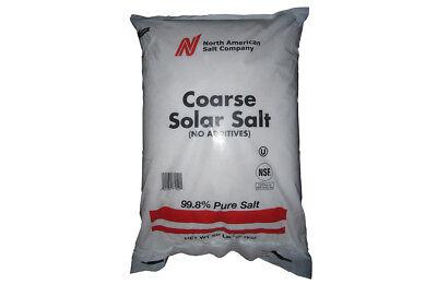 Sodium Chloride Extra Coarse Granular Solar Salt Nacl White Solid 50 Lb Bag