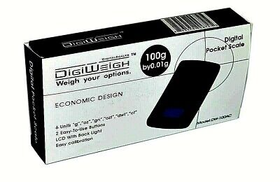 Digiweigh Digital Electronic Pocket Scale 100 Grams With Batteries- Dw-100ac