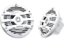 """Kenwood KFC-1653MRW 6.5"""" White 2-Way Coaxial Marine Speakers (Pair)"""