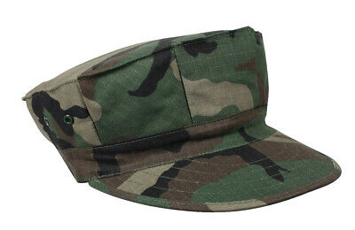 Woodland Camo USMC 8 Point Cap Marines Style Fatigue Rip Stop Hat Rothco 5633 ()