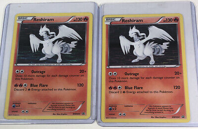 2x Reshiram BW004 Holo Pokemon Black & White Black Star Promo NM/LP