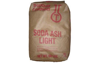Sodium Carbonate Soda Ash Light Na2co3 Nsf 99.2 White Crystals 50 Lb Bag