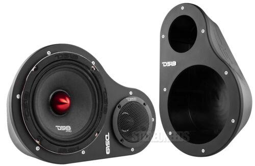 """DS18 EN6P Left Right 2-Way Universal Speaker Pods 6.5"""" Midrange 1"""" Tweeter Black"""