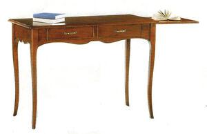 Dettagli su Scrivania Scrittoio classico in arte povera legno massello ...