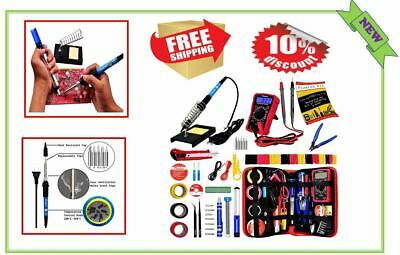 Soldering Iron Kit Electrical Welding Tool Gun Solder Station Digital Multimeter
