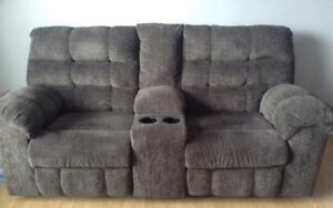Reclining loveseat and matching chair