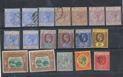 ST LUCIA - Lot of old stamps