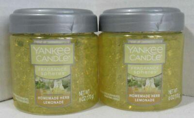 Yankee Candle Fragrance Spheres Odor Beads Set Lot of 2 HOMEMADE HERB LEMONADE