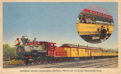Narrow-Gauge Deadwood Central Train At Chicago Railroad Fair 1949 Postcard for sale  Shipping to Canada