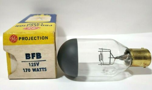 1 NOS GE BFB  Projector Lamp Bulb 170W 125V 25 Hours  Sawyers View Master Deluxe