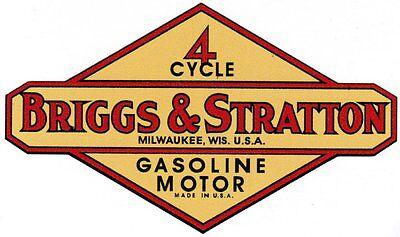 Briggs & Stratton Gas Engine Motor Decal Hit & Miss 1950's - 1970's FH FI WM WI