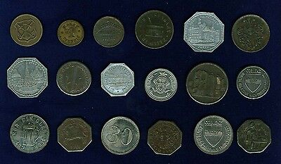 GERMANY 1917-1920 NOTGELD, GROUP LOT OF (18) ASSORTED TOKENS/COINS
