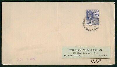 MayfairStamps British Guiana 1929 to Downington Pennsylvania Cover wwo31345