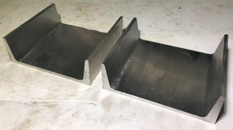 """Lot of 2 - American Standard 6061 T6 Aluminum Channel 6"""" x 1.92"""" x 0.20"""" x 5"""""""