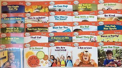 Lot 25 Children's Level A Kindergarten First Grade Learn to Read Books