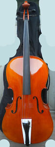 new 4/4 cello outfit maple top flame maple back ribs, bow, bag,