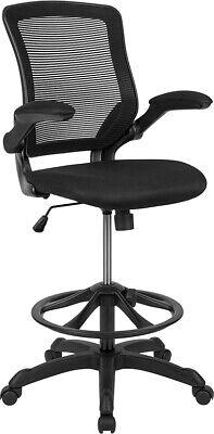 Heavy Duty Swivel Tilt Mesh Home Office Clerk Drafting Bar Counter Stool Chair