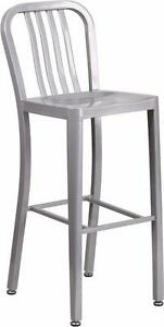 RESTAURANT METAL DINING CHAIR INDOOR OUTDOOR USE