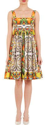 Dolce & Gabbana Tile & Fruit Print Sleeveless Dress 44 US 8  NWT$1.7K SALE!