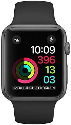 Apple Watch Series 1 42mm SPace Grey Aluminum Case Black Sport Band -