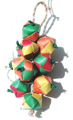 Parrot Pinata Bird Toys - Mini Ball Cluster Shredder Chew Tree Free Fair Trade](Parrot Pinata)