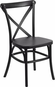 RESTAURANT CROSS BACK DINING CHAIR INDOOR OUTDOOR USE