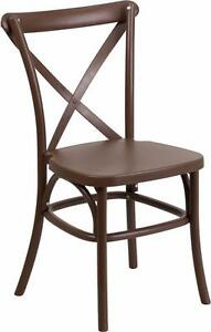 RESTAURANT / WEDDING CROSS BACK DINING CHAIR INDOOR OUTDOOR USE