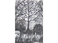 """""""Drawing in two Mediums - Trees in the Landscape""""Half Day Workshop with Michele Webber"""