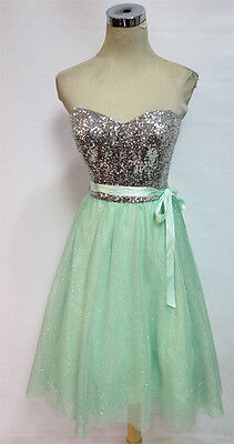 WINDSOR Mint Silver Party Prom Dance Dress 13 - $110 NWT