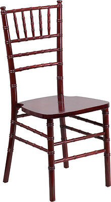 10 Pack Mahogany Wood Chiavari Chair With Soft Seat Cushion Wedding Chair