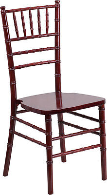Mahogany Wood Chiavari Chair - Commercial Quality Stackable Wood Chiavari Chair