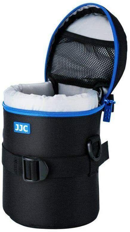 JJC DLP-4II Large - Water Resistant Lens Pouch w/Shoulder Strap - Black & Blue