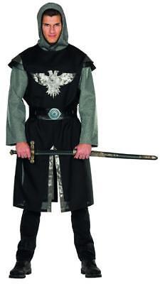 Ritter Kostüm schwarz silber Herren Karneval Tafelrunde Burg Schloss (Runde Kostüme)