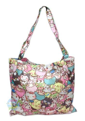 SANRIO YURUKAWA Characters Folding Eco-Shopping Tote with Storage Bag KAWAII