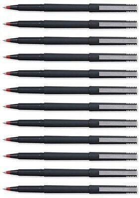 Uni-Ball UB-120 Micro Eco Water Proof Pigment Ink Rollerball Pens RED Pack of 12