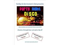 Party Night Disco Thursday 2nd March 8pm