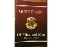 GCSE English of mice and men CGP text guide