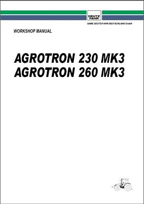 Deutz Fahr Agrotron 230 260 Mk3 Tractor Service Manual Cd -- English French